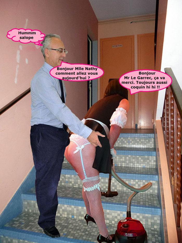 Dans les escaliers da